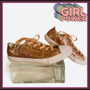 CONVERSE PINK GLITTER JUNIOR SNEAKERS EXCELLENT